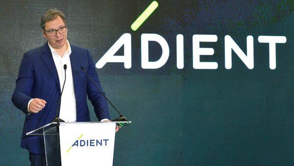 Председник Србије Александар Вучић отворио у Лозници фабрику америчке компаније Адиент - Sputnik Србија