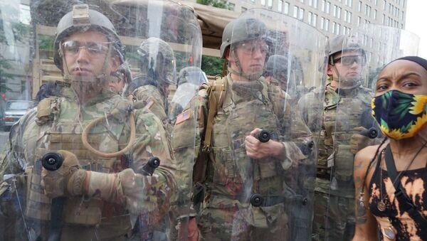 Припадници Националне гарде током протеста у Вашингтону - Sputnik Србија