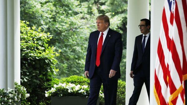 Donald Tramp ispred Bele kuće - Sputnik Srbija