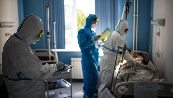 Госпиталь COVID-19 в ЦИТО им. Н. Н. Приорова - Sputnik Србија