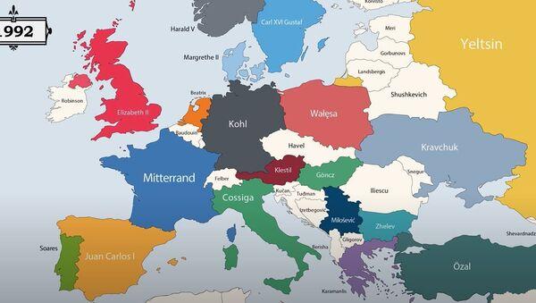Анимирана мапа која приказује ко је владао Европом - Sputnik Србија
