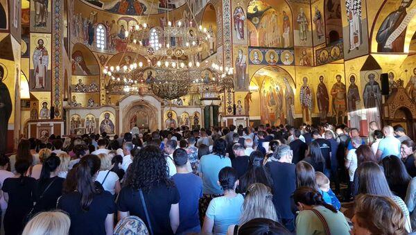 Молебан у Храму Христовог васкрсења у Подгорици - Sputnik Србија