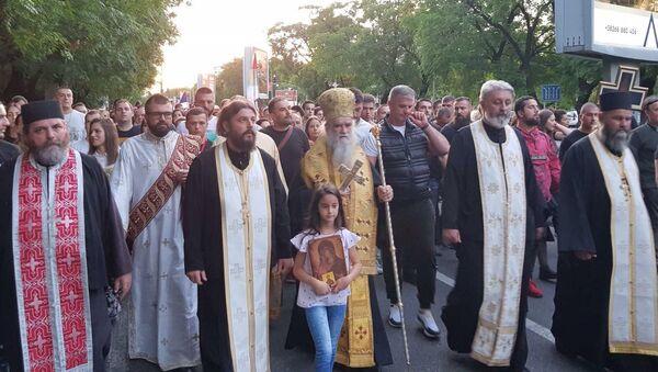 Митрополит Амфилохије предводи литију у Подгорици - Sputnik Србија