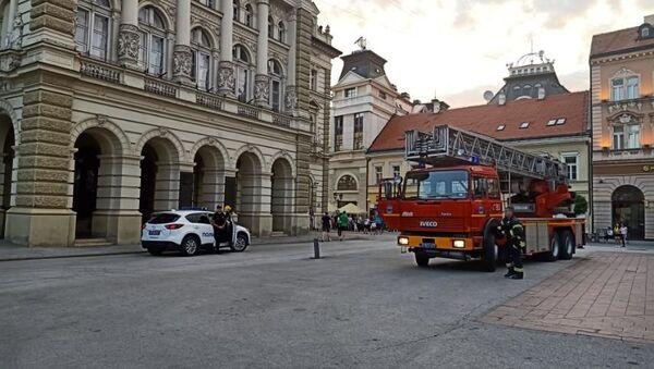 Новосадски ватрогасци и интервентна патрола на месту инцидента - Sputnik Србија