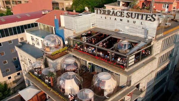 Антикорона балони: Заштита у ресторану у Истанбулу - Sputnik Србија