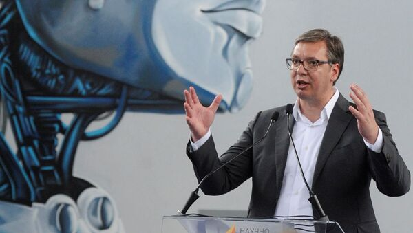 Predsednik Aleksandar Vučić na otvaranju Naučno-tehnološkog centra u Čačku - Sputnik Srbija