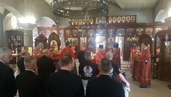 Парастос руским добровољцима у Руској цркви Свете Тројице - Sputnik Србија