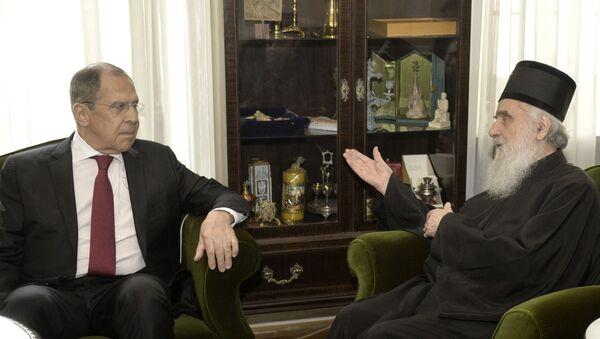 Sastanak ministra Lavrova sa patrijarhom Irinejom u Patrijaršiji - Sputnik Srbija