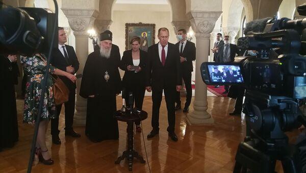 Ministar Sergej Lavrov u Patrijaršiji sa patrijarhom Irinejem - Sputnik Srbija