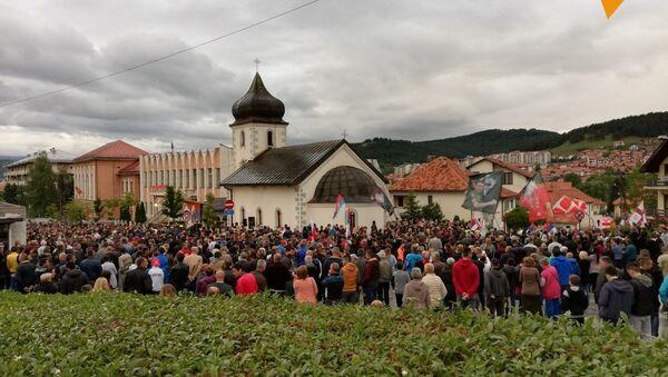 Пљевља: Порта храма била је пуна верника - Sputnik Србија
