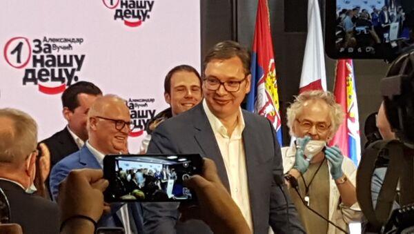 Predsednik Srbije i lider SNS Aleksandar Vučić - Sputnik Srbija