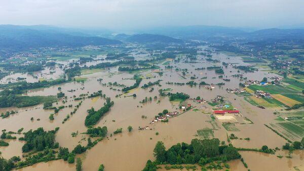 Поплаве у Пожеги, Горобиље - Sputnik Србија