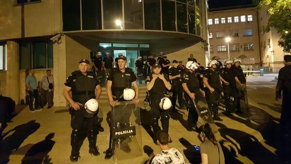 Полиција испред Центра јавне безбедности у Подгорици - Sputnik Србија