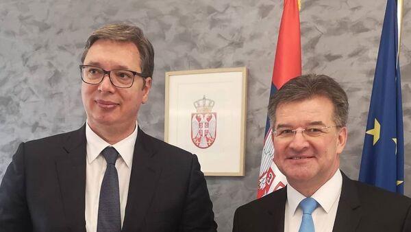 Вучић и Лајчак - Sputnik Србија