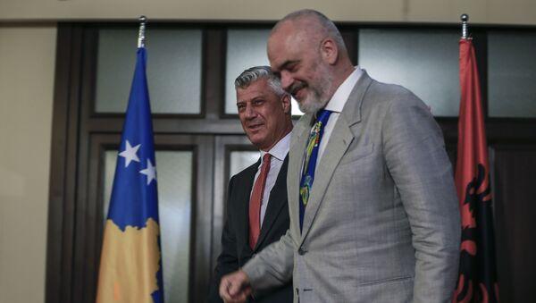 Хашим Тачи и Еди Рама у Приштини - Sputnik Србија