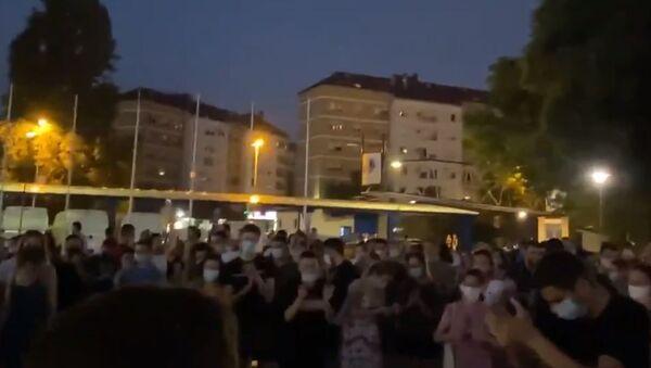 Studentski protest u Beogradu zbog najave iseljavanja iz domova - Sputnik Srbija