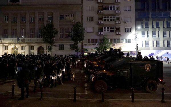 Policijski kordona na Trgu Nikole Pašića - Sputnik Srbija