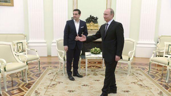 Putin i Cipras - Sputnik Srbija