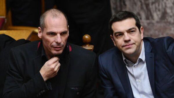 Ministar finansija Janis Varufakis i premijer Grčke Aleksis Cipras - Sputnik Srbija