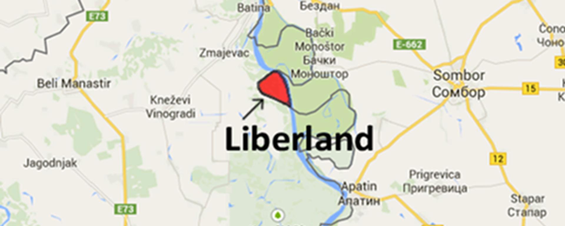 Либерланд лежи на обалама Дунава, између Бачког Моноштора и Змајевца. Основана на ничијој земљи, коју у оквиру разграничења нису тражиле ни Србија, ни Хрватска. - Sputnik Србија, 1920, 18.07.2021