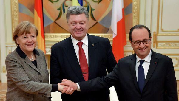Vizit rukovoditeleй Francii i Germanii v Kiev - Sputnik Srbija