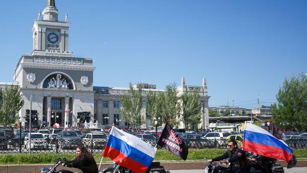 Nožni vukovi na otvaranju obnovljene železničke stanice nakon napada u Volgogradu - Sputnik Srbija