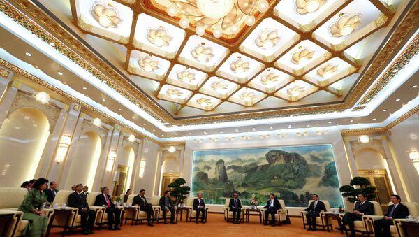 Председник Кине Си Ђинпинг се састаје са гостима у Азијској инфраструктурној  банци (АИИБ) - Sputnik Србија