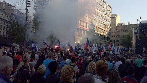 Митинг Демократске странке у Београду - Sputnik Србија