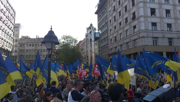 Protest Demokratske stranke - Sputnik Srbija