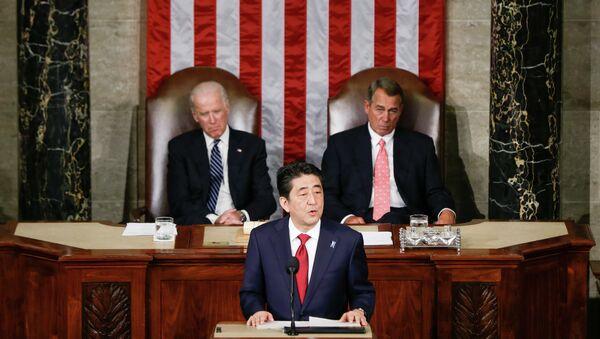 Јапански премијер Шинзо Абе у посети САД - Sputnik Србија