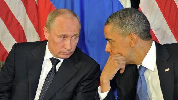 Ruski predsednik Vladimir Putin i američki predsednik Barak Obama - Sputnik Srbija