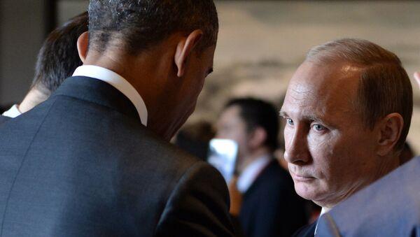 Predsednici Rusije i Amerike Vladimir Putin i Barak Obama - Sputnik Srbija