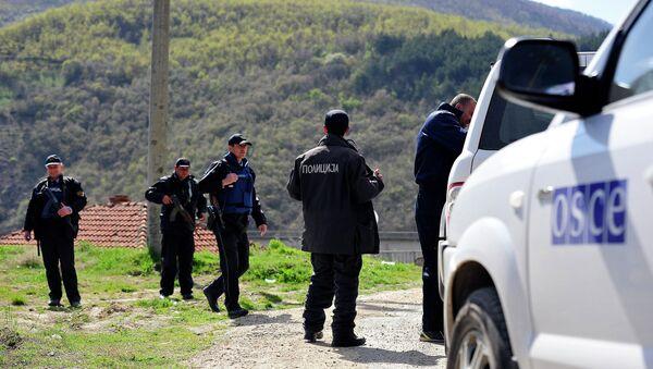 Makedonska policija u selu Gošince - Sputnik Srbija