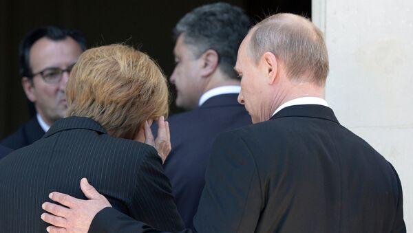Путин, Меркелова, Оланд и Порошенко допутовали у Минск (илустрација) - Sputnik Србија