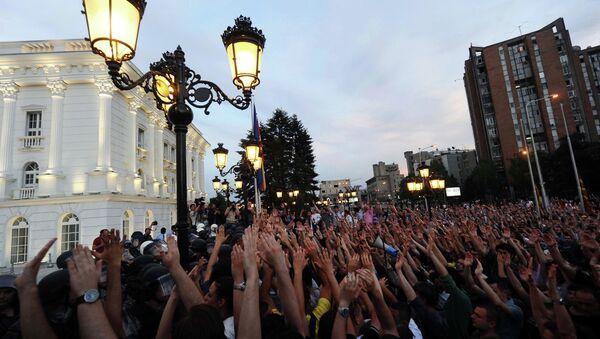 Demonstracije u Skoplju - Sputnik Srbija