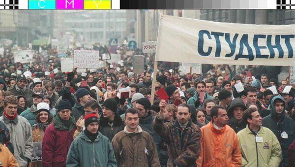 Studentski protest 1996. godine - Sputnik Srbija