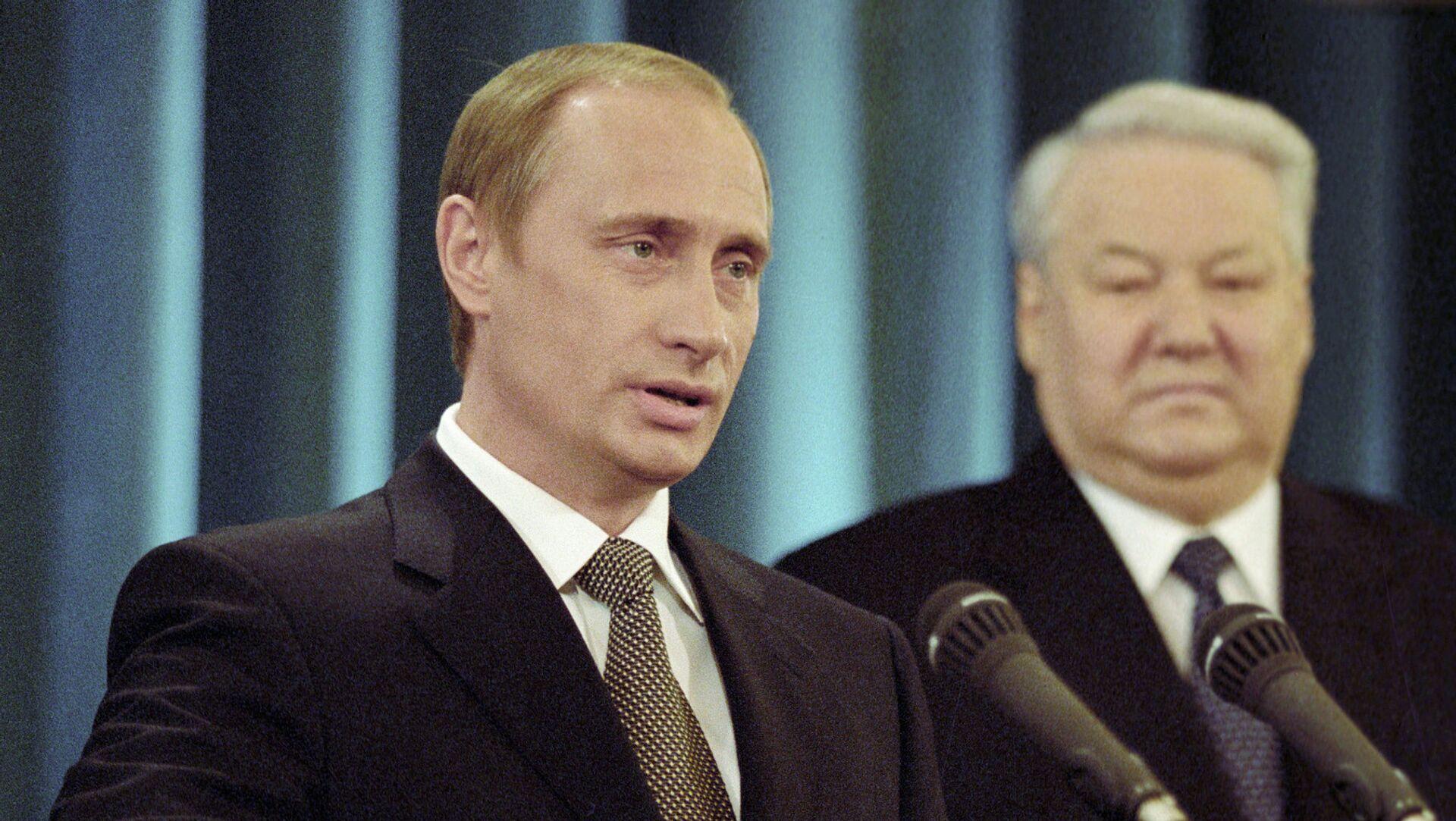 Vladimir Putin i Boris Jeljcin - Sputnik Srbija, 1920, 01.02.2021