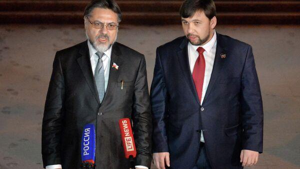 Денис Пушилин и Владислав Дејнего - Sputnik Србија