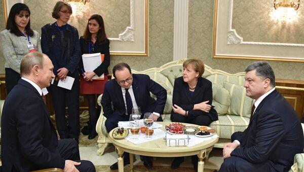 Преговори лидера Русије, Немачке, Француске и Украјине у Минску - Sputnik Србија