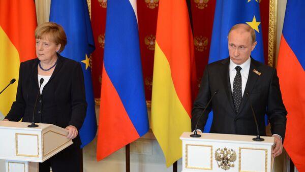 Заједничка прес-конференција Владимира Путина и Ангеле Меркел у Москви - Sputnik Србија