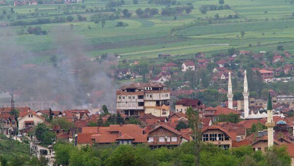 Kumanovo, dim iznad područja sukoba - Sputnik Srbija