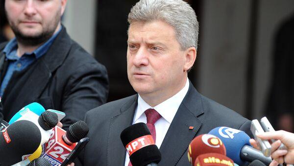 Predsednik Makednije Đorđe Ivanov - Sputnik Srbija