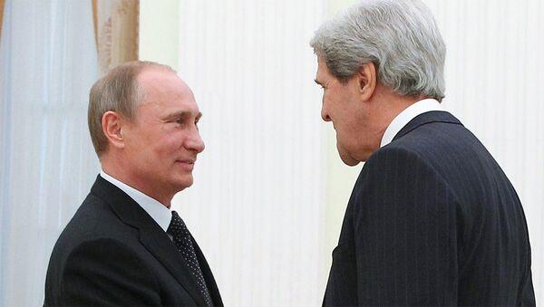 Владимир Путин и Џон Кери - Sputnik Србија