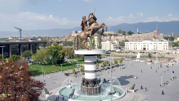 Spomenik Aleksandru Makedonskom u Skoplju - Sputnik Srbija
