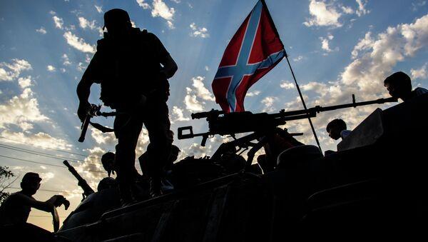 Donbas policija u istočnoj Ukrajini - Sputnik Srbija