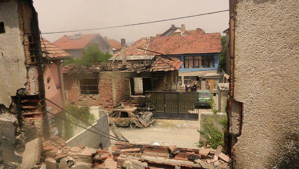 Насеље Диво код Куманова после терористичких борби - Sputnik Србија
