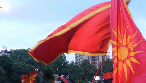 Митинг владајуће партије у Македнији - Sputnik Србија