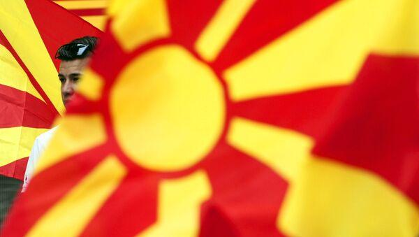 Makedonske zastave - Sputnik Srbija