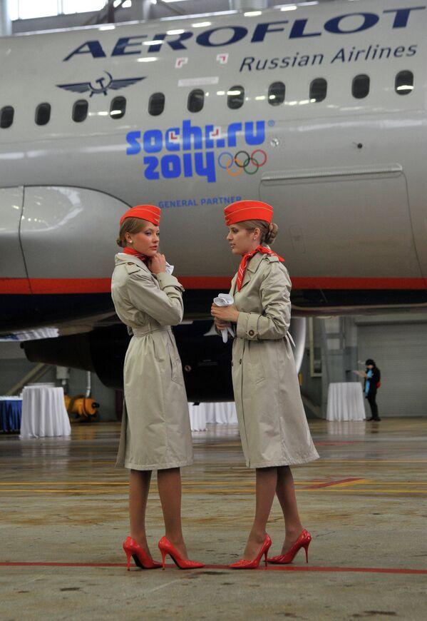 Презентација компаније Аерофлота  са олимпијским ознакама - Sputnik Србија