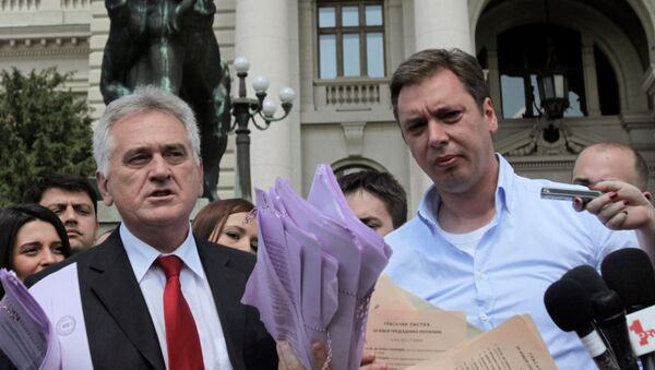 Tomislav Nikolić i Aleksandar Vučić - Sputnik Srbija
